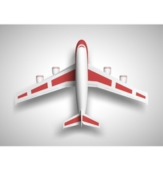 red airplane top view vector image