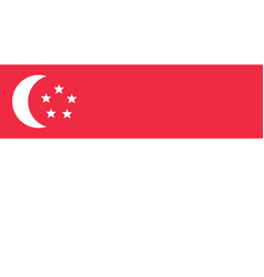 Singapore flag for independence day and vector