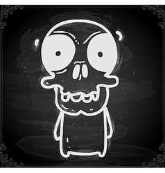 Skeleton Drawing on Chalk Board vector image vector image