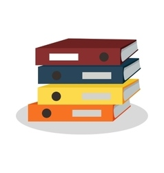Stack of binders with papers vector
