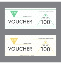 Template design gift voucher with triangular vector image vector image