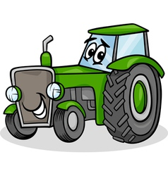 Tractor character cartoon vector