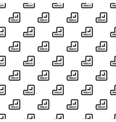 Translate button pattern simple style vector image vector image