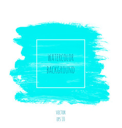 turquoise blue watercolor texture background vector image vector image