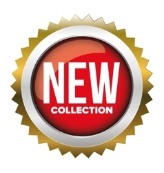 New collection badge vector