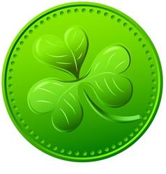 green clover symbol of St Patricks Day vector image