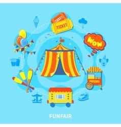 Funfair design vector image