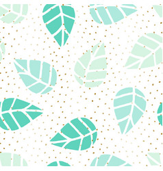 Seamless leaves pattern vector