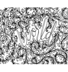 Sketchy hand drawn doodles zen tangle zen vector
