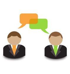 business dialogue vector image