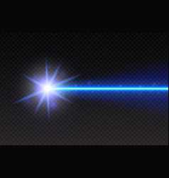 Abstract blue laser beam magic neon light lines vector