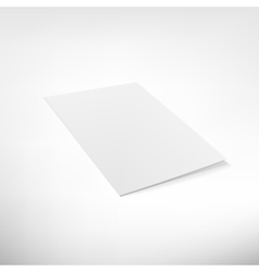 Folder page on white background vector