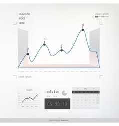 Abstract infographic graph vector
