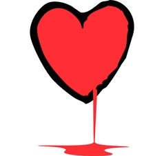 Bleeding heart vector