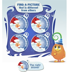 Find 5 differences santa claus vector