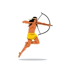 Injun archery man Cartoon vector image