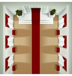 Top view foyer interior vector