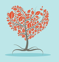 Abstract flat design tree with roots vector
