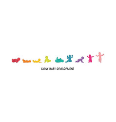 Baby development icon child growth stages vector