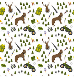 camping trip seamless pattern accessories and vector image