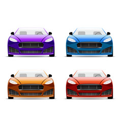 Color cars vector image