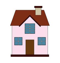 color image cartoon facade confortable house with vector image vector image