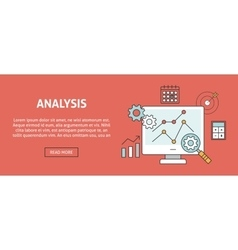 Data analysis concept banner vector