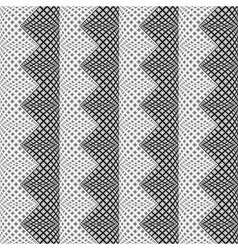 Design seamless monochrome vertical zigzag pattern vector