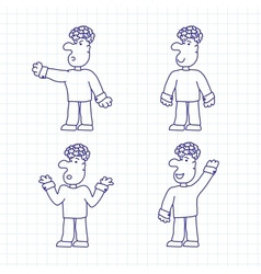 Hand Drawn Cartoon Characters vector image