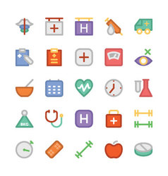 Health colored icons 5 vector