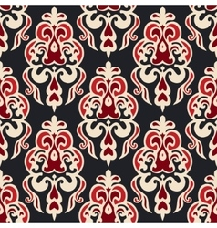 Luxury seamless damask floral motif vector image vector image