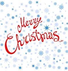 Merry Christmas typography handwriting snowflake vector image