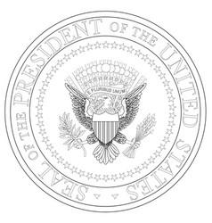 presedent seal vector image vector image