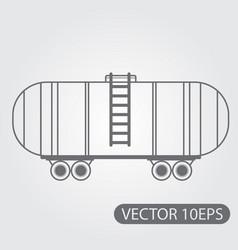 railway cistern for transportation of liquid gas vector image vector image