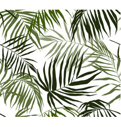 seamless pattern palm leaves hand drawn vector image vector image