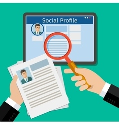 Search Social Profile vector image vector image