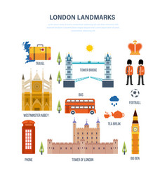 Sights of london architecture structure culture vector