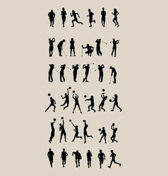 Sport Set Silhouettes vector image vector image