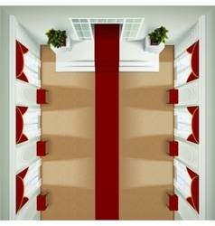 Top View Foyer Interior vector image