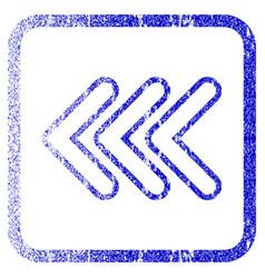 Triple pointer left framed textured icon vector