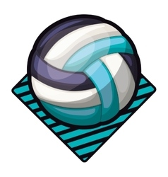 Volleyball tournament emblem with ball vector