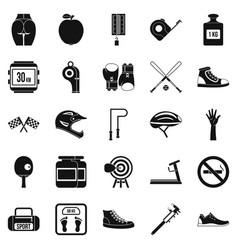 weights icons set simple style vector image