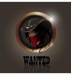 Western girl vector
