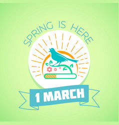 1 march - spring green vector