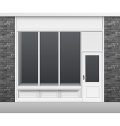 Shop Store Front with Windows Showcase and Door vector image
