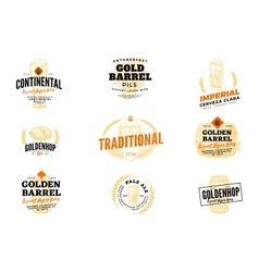 Beer hop logo set vector