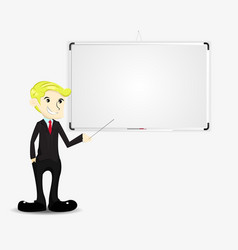 Businessman with blank board vector
