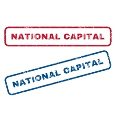 National capital rubber stamps vector