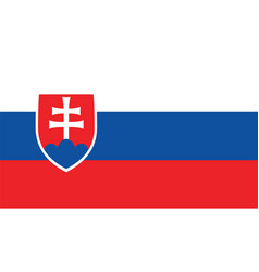 Slovakia flag for independence day and vector