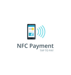 near field communication icon nfc and vector image
